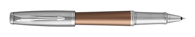 Urban Premium Orange Rollerball Pen With Chrome Trim Fine Point
