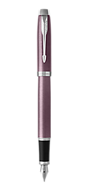 IM Light Purple Fountain Pen With Chrome Trim Medium Nib