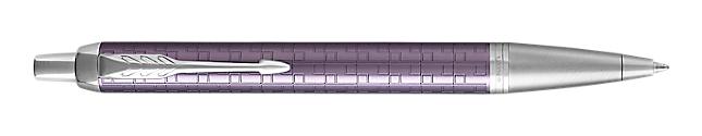 IM Premium Dark Violet Retractable Ballpoint Pen With Chrome Trim Medium Point