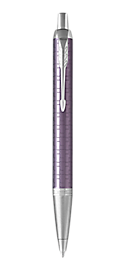 IM Premium Dark Violet Retractable Ballpoint Pen With Chrome Trim Medium Point