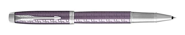 IM Premium Dark Violet Rollerball Pen With Chrome Trim Fine Point