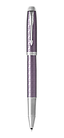 IM Premium Dark Violet Rollerball Pen With Chrome Trim Fine Point