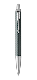 IM Premium Pale Green Retractable Ballpoint Pen With Chrome Trim Medium Point