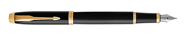 IM Black Gold Fountain Pen With Gold Trim Fine Nib