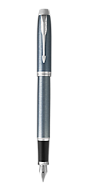 IM Light Blue & Grey Fountain Pen With Chrome Trim Fine Nib