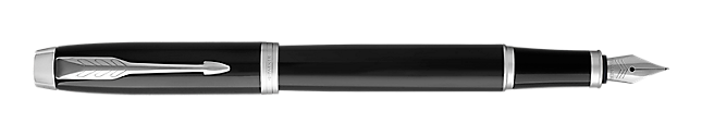 IM Black Chrome Fountain Pen With Chrome Trim Medium Nib