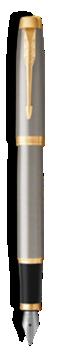 Stylo-plume Parker IM Métal Brossé - Plume moyenne