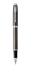 IM Lacquered Dark Espresso Fountain Pen With Chrome Trim Medium Nib