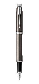IM Lacquered Dark Espresso Fountain Pen With Chrome Trim Medium Nib