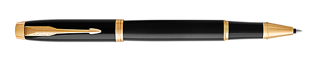 IM Black Gold Rollerball Pen With Gold Trim Fine Point