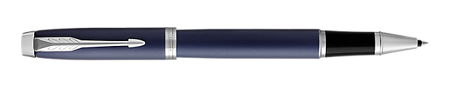 IM Blue Rollerball Pen With Chrome Trim Fine Point