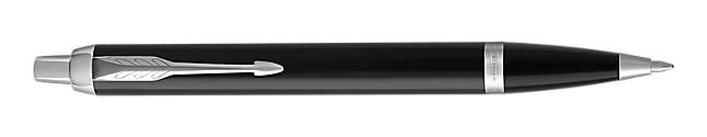 IM Black Chrome Retractable Ballpoint Pen With Chrome Trim Medium Point