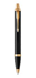 IM Black Gold Retractable Ballpoint Pen With Gold Trim Medium Point