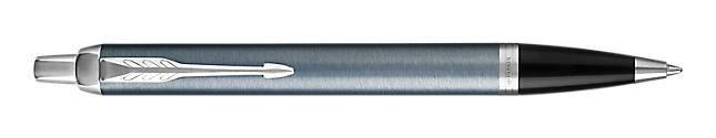 IM Light Blue & Grey Retractable Ballpoint Pen With Chrome Trim Medium Point