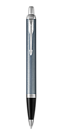 IM Light Blue & Grey Retractable Ballpoint Pen With Chrome Trim Medium Point