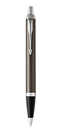 IM Lacquered Dark Espresso Retractable Ballpoint Pen With Chrome Trim Medium Point