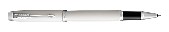 IM White Rollerball Pen With Chrome Trim Fine Point