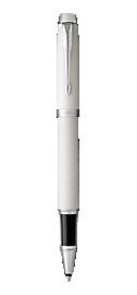 IM White Rollerball Pen With Chrome Trim Fine Point