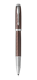 IM Premium Brown Rollerball Pen With Chrome Trim Fine Point