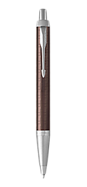 IM Premium Brown Retractable Ballpoint Pen With Chrome Trim Medium Point