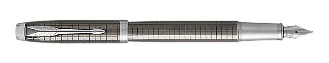 IM Premium Chiselled Dark Espresso Fountain Pen With Chrome Trim Fine Nib