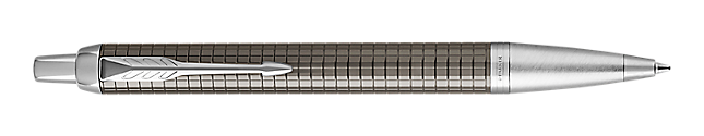 IM Premium Chiselled Dark Espresso Retractable Ballpoint Pen With Chrome Trim Medium Point