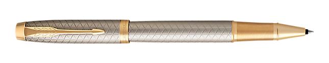IM Premium Warm Silver Gold Rollerball Pen With Gold Trim Fine Point