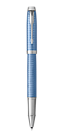 IM Premium Blue Rollerball Pen With Chrome Trim Fine Point
