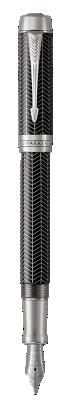 Image pour Duofold Prestige Chevron Noir Stylo-plume - Plume fine à partir de Parker FR