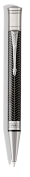 Duofold Prestige Black Chevron Ballpoint Pen - Medium nib