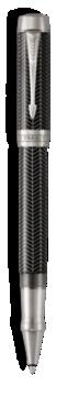 Duofold Prestige Chevron Noir Rollerball - Plume fine