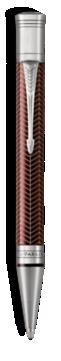 Duofold Prestige Chevron Bordeaux Stylo-bille - Pointe moyenne