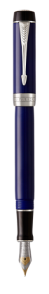 Image for Duofold Classic Blue & Black Fountain Pen - Fine nib from Parker UK