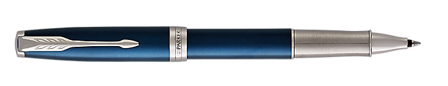 Sonnet Premium Lacquered Blue Rollerball Pen With Chrome Trim Fine Point