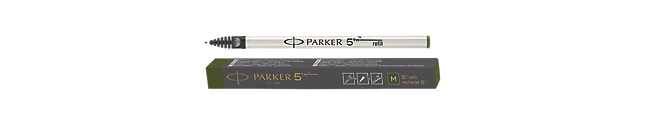 Parker 5THTM Refill Ink For Ingenuity Pen Medium Nib In Olive Green