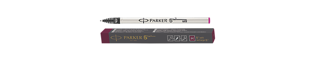 Parker 5THTM Refill Ink For Ingenuity Pen Medium Nib In Red Burgundy