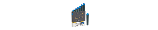 Quink Mini Refill Ink Cartridge For Foutain Pen In Blue