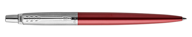 Jotter Kensington Red Retractable Ballpoint Pen With Chrome Trim Medium Point