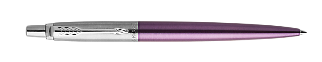 Jotter Victoria Violet Retractable Ballpoint Pen With Chrome Trim Medium Point