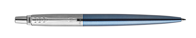 Jotter Waterloo Blue Retractable Ballpoint Pen With Chrome Trim Medium Point