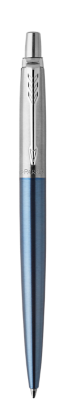 Image for Jotter Waterloo Blue Chrome Trim Ballpoint pen from Parker UK
