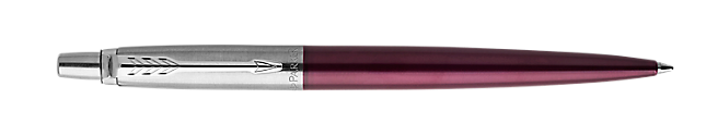 Jotter Portobello Purple Retractable Ballpoint Pen With Chrome Trim Medium Point
