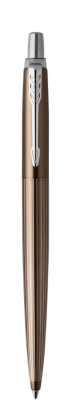Image for Jotter Premium Carlisle Brown Pinstripe Chrome Trim Ballpoint from Parker UK