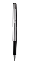 Jotter Stainless Steel Fountain Pen With Chrome Trim Medium Nib