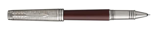 Premier Crimson Red Rollerball Pen With Ruthenium Trim Fine Point