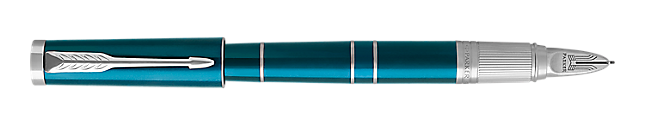 Ingenuity Deluxe Green Parker 5THTM Pen With Chrome Trim