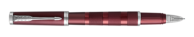 Ingenuity Deluxe Deep Red PVD Parker 5THTM Pen With Chrome Trim