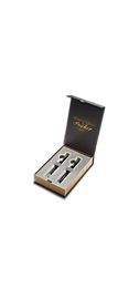 Sonnet Black Chrome Trim Fountain Pen & Ballpoint Duo Gift Set