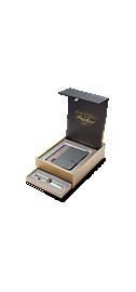 Sonnet Metal & Pearl Chrome Trim 18k Fountain Pen & Premium Notebook Organiser Gift Set