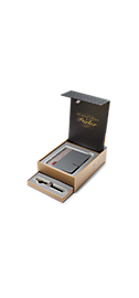 Sonnet Black Lacquer Gold Trim 18k Fountain Pen & Premium Notebook Organiser Gift Set - 30% OFF